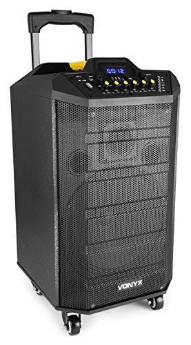 Vonyx VPS10 Sound-System 250W USB-/SD-Anschluss Bluetooth 12V/4,5Ah Akku