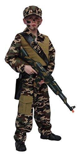 Karneval-Klamotten Kostüm Soldat Kostüm Junge Karneval Armee Jungenkostüm