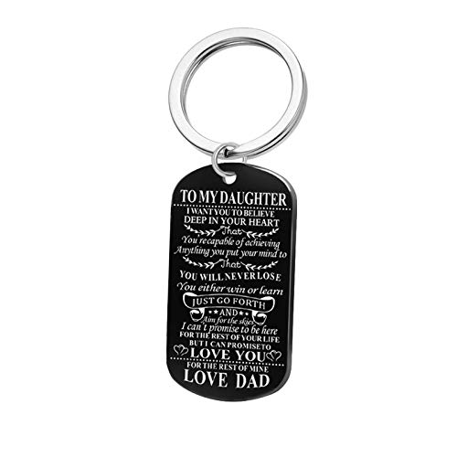 Schlüsselbund Herren Dog Tag Gravur Motivierende Worte Edelstahl Schlüsselanhänger Drive Safe Schlüsselbund Schwarz