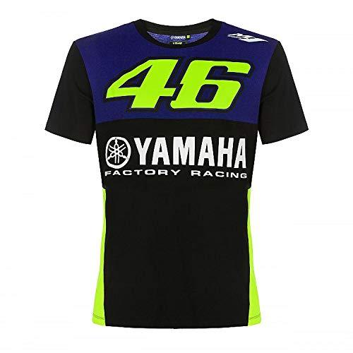 Valentino Rossi Herren Yamaha Dual-Racing T-Shirt, Königsblau, XL