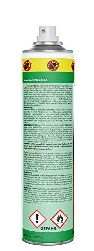 Röhnfried Kieselgur Spray Insektenspray, Kieselgur-Spray gegen Vogelmilben, Ameisen, Spinnen & Insekten, Ungezieferspray für Garten & Wohnung, 400 ml - 2