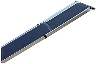 ZEEZ Deluxe Telescoping Pet Ramp, 1 Count, Silver/Charcoal