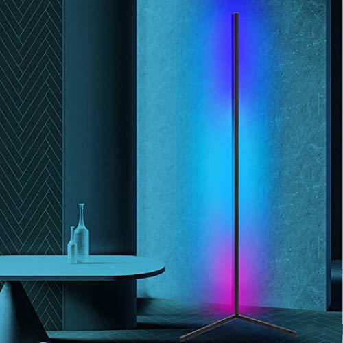 JAKROO RGB Eck-Stehleuchte, LED Dimmbare Stehlampe Moderner minimalistischer Stil, Ambient Ecklichter für Wohnzimmer, Schlafzimmer, Spielzimmer, Weiß schwarz