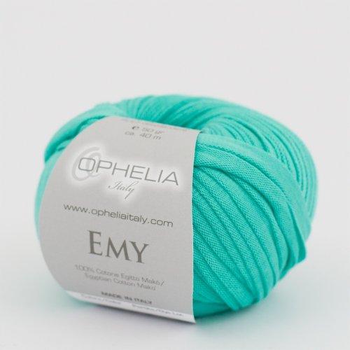 Ophelia Italy Emy – Fettuccia Cotone 50g fettuccia 10mm 100% Puro Cotone Egiziano Makò (023 Tiffany)