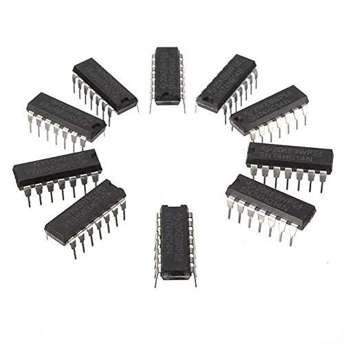 Ji Yun 10 Stücke SN74HC14N 74HC14 IC Chip DIP-14 6 Inverting Schmitt Trigger Schutzmodul
