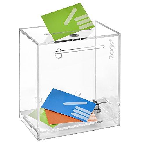 Zeigis - Urna, hucha caja donaciones, cerradura, colocar