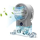 Enfriador de Aire, 4 en 1Mini Aire Acondicionado Portatil, Aire Acondicionado Portátil Silencioso,Ventilador Agua Humidificador, 3 Velocidades y 7 Colore LED, Para el Hogar y la Oficina