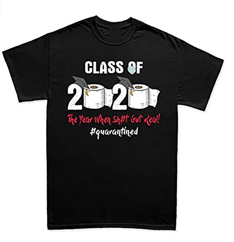 Custom Men's t-Shirts Perfection Class of 2020 Quarantined Toilet Paper Funny T Shirt tee T-Shirt Black-XL
