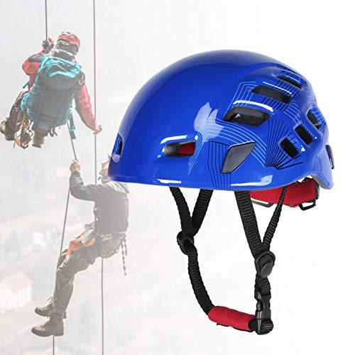 Eulbevoli Durable Vertex Vent Casco ANSI Casco de Rescate Ligero para Exteriores, portátil, Ajustable para prevenir Lesiones, Trabajo a Gran altitud, Escalada en Roca, montañismo(Blue)