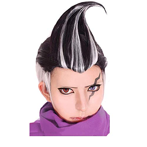 LBBZJM De Halloween Peluca de Danganronpa Dangan Ronpa Tanaka Gandamu Peluca, Juegos de rol for el Cabello Disfraz de Halloween Cap Peluca Pelucas + (Color : A)