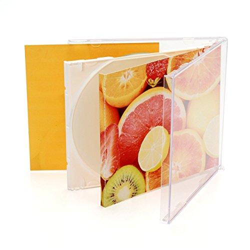 『サンワダイレクト DVD CDケース 10mm 1枚収納×50枚 プラケース ジャケット収納可 クリア 200-FCD024C』の3枚目の画像