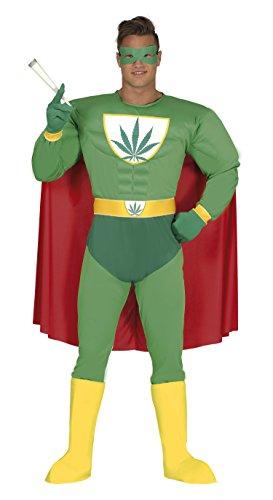 Guirca – Kostüm für Erwachsene, Superheld, Marijuana, Größe 52 – 54 (88276.0)