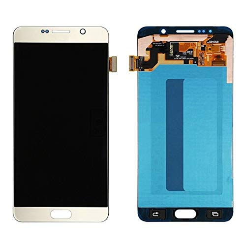 LSHtech LCD Display Touch Screen Digitizer Assembly for Samsung Galaxy Note 5 with free tools(gold)