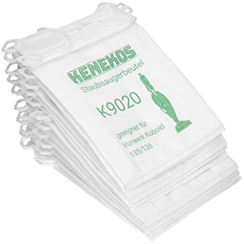 12 Staubsaugerbeutel aus Vlies geeignet für Vorwerk - Kobold 135/136 / 135SC / VK135 / VK 136