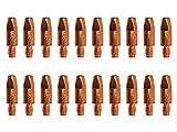 ELCAN 20 Puntas de contacto de cobre M6x28x8mm para antorcha 25ak de 0.8/1.0/1.2. Consumibles y accesorios pistola soldar. Boquillas para torcha soldadura hilo mig mag de 1,0mm