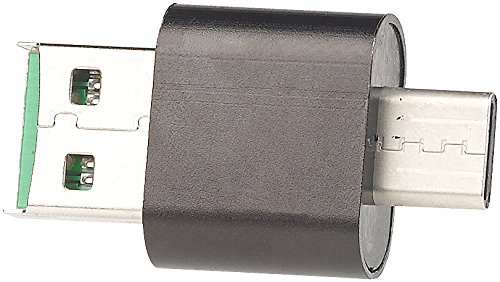PEARL Mini Card Reader: 2er-Set Mini-Cardreader & USB-Stick für microSD bis 128 GB, USB A & C (USB C Kartenleser)