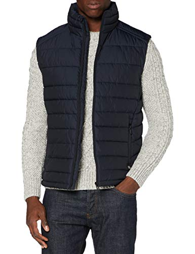 Superdry Mens Fuji Gilet Quilted Jacket, Deep Navy, XXX-Large