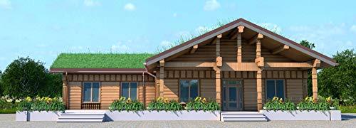 DAHIR - Caseta de madera de montaje rápido (190 m²)
