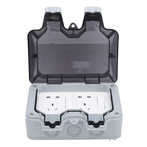 Caja de Enchufes A Prueba de Agua para Exteriores Cubiertas de Enchufes de Protección para Exteriores Enchufes Eléctricos Componentes de Control Enchufe de Pared A Prueba de Lluvia