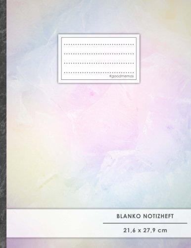 """Blanko Notizbuch • A4-Format, 100+ Seiten, Soft Cover, Register, """"Cloudy"""" • Original #GoodMemos Blank Notebook • Perfekt als Zeichenbuch, Skizzenbuch, Sketchbook, Leeres Malbuch"""
