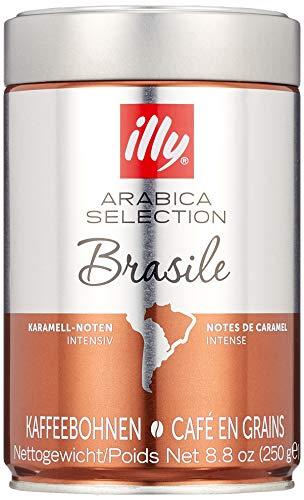 illy Kaffee, Espressobohnen der Arabica Selection aus Brasilien - Verpackung mit 2 Dosen zu je 250 g