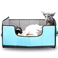 ペットベット ペットソファ ソフト マットペット用品 ペットマット、ペット巣フォーシーズンズ一般的な折り畳み式のケンネル旅行カー猫のトイレペットパッドペットの犬小屋(カラー:B、サイズ:S.45x36x32cm) 犬用ベッド・クッション (Color : B, Size : S.45x36x32cm)