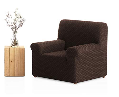 Bartali Sesselbezug Olivia, 50% Polyester, 45% Baumwolle, 5% Elastomer, Braun, 1 Quadratisch