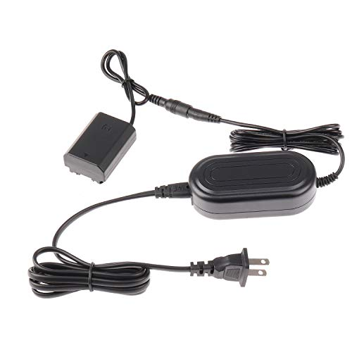 Fotga AC-FZ100 AC Power Adapter with DC Coupler Dummy Battery NP-FZ100 + Power Cable for Sony ILCE-9 A9 II, ILCE-7M3 A7III, ILCE-7RM3 A7RIII,A7SIII A7RM4 A7R IV A6600 A7RIV A1 A7C FX3 Camera