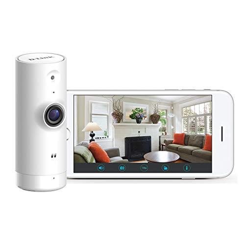 D-Link DCS-8000LH – Cámara IP WiFi de vigilancia con Acceso Desde móviles, grabación de vídeo en la Nube y en el móvil, HD 720p, H.264, Compatible Amazon Alexa y Google Home, para iOS/Android