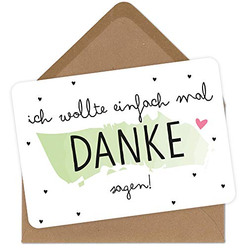 Grußkarte mit Umschlag Danke sagen Glückwunsch-Karte zum Jahrestag Geburtstag Mann Frau
