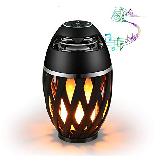 1 stuk vlinder Emulazione Fuoco Bluetooth luidspreker draagbare LED-lamp sfeerverlichting stereo camping outdoor woofer mini