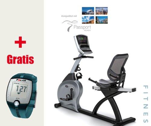 R20 Elegant Vision Fitness Halbliegeergometer inkl. FT1 Pulsuhr und Polar T31 Brustgurt
