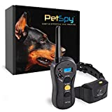 PetSpy P620 Dog Training Shock Collar for Dogs with Vibration, Electric Shock, Beep; Rechargeable and Waterproof Remote Trainer E-Collar - 10-140 lbs