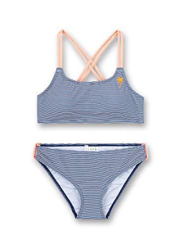 Sanetta Mädchen blau Bikini, urban Blue, 152