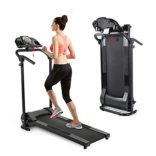 Zelus Folding Treadmill for Home Gym, Electric Foldable Running Cardio Machine with Cup Holder - Smart Speed Control with APP - 3 Level Incline, Heart Monitor Walking & Running Exercise Equipment