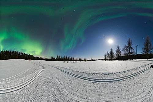 lxlwxh541 Diamant Malerei 5D Winter Snow Aurora Kreuzstich Kits Home 40X50Cm Round Geschenk