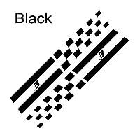 2ピース車の窓B柱装飾デカール自動反射列トリムステッカーマツダ3車のステッカーとデカールアクセサリー