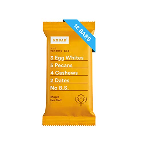 RXBAR, Maple Sea Salt, Protein Bar, 1.83 Ounce (Pack of 12) Breakfast Bar, High Protein Snack