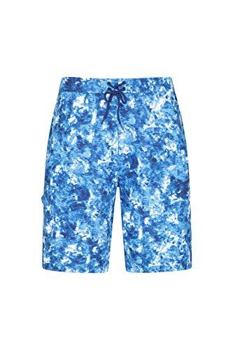Mountain Warehouse Short de Bain Hommes Ocean - Séchage Rapide, Filet intérieur, Taille réglable, Poches latérales - pour la Natation, Surf Bleu Foncé XL