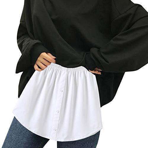 Dobladillo Falso de la Blusa de las SeñOras Multifuncionales en Capas Ajustables, Falda de La Falda de Rayas Desmontable, Minifalda Extendida de La Sudadera con Capucha, Falda Decorativa Del SuéTer