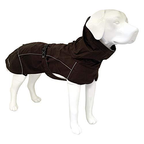 Croci Hiking Hundemantel, wasserdicht, für Hunde, Makalu, thermoregulierendes Futter, Schwarz, Größe 40 cm - 195 g