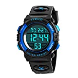 Kids Digital Sport Watch Waterproof Children Outdoor Watches Kid Casual Electronic Analog Quartz Wrist Watches with Silicone Back Band Luminous Alarm Stopwatch for Boys