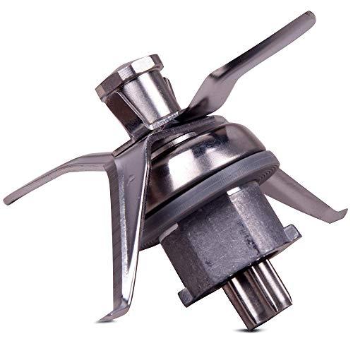 PIESSEONLINE Compatibile con 4 Lame e Guarnizione per Robot da Cucina Thermomix, Inserto per coltelli, frullatore Vorwerk TM 21, Acciaio Inossidabile, Piccola