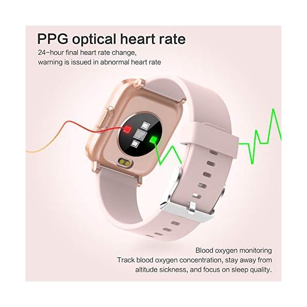GRDE Reloj Inteligente Hombre Mujer, Smartwatch Fitness 24H Monitor de Oxigeno(SpO2)/Ritmo Cardíaco/Sueño 5ATM… 4