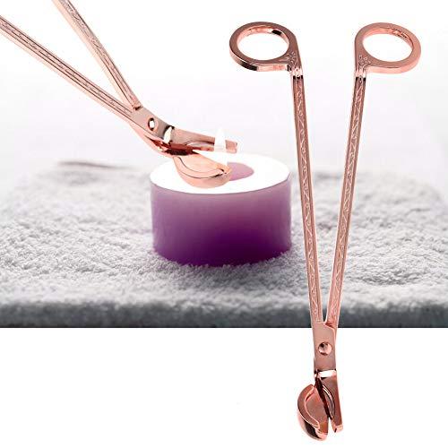 Hztyyier Candle Wick Trimmer, Edelstahl poliert Wick Trimmer Schere Werkzeug tief in Kerzen, um verbrauchte Dochte zu schneiden(Rose Gold)
