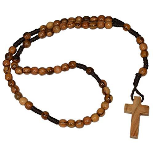 Junker Kirchenbedarf Rosenkranz aus Olivenholz - Handarbeit aus Bethlehem - Länge 26cm