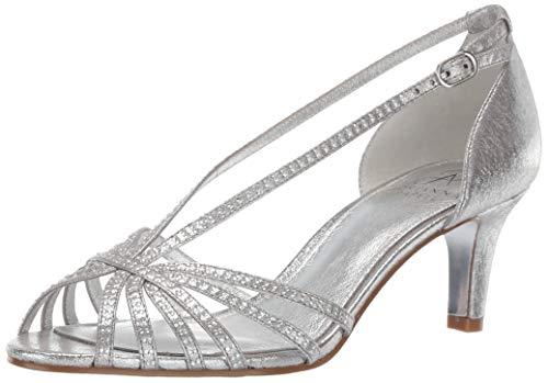 Adrianna Papell Women's Judy Heeled Sandal, Silver, 8.5 M US