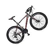 MIRC Road Bike Mountain Bike Racing Men's Aluminum Alloy Adult Ultra Light 700c Broken Wind Speed,Red,L