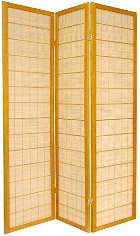 Oriental Furniture Asian Bamboo Furniture, 6-Feet Kimura Japanese Shoji Privacy Screen Room Divider, 3 Panel Honey