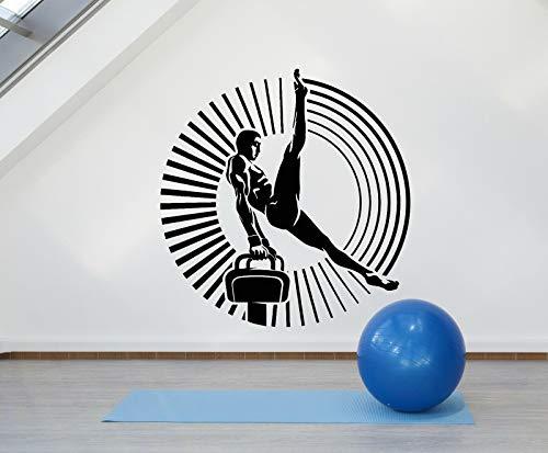 myrockshirt Wandtattoo Aufkleber Acrobatics Gymnastic Air Athlet Turnerin Sport für alle glatten Flächen UV&Waschanlagenfest Autoauf